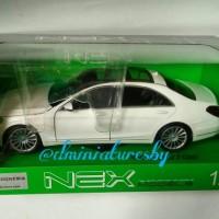 Diecast Welly NEX 1/24 Mercedes-Benz S Class white