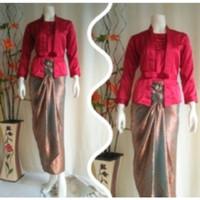 Setelan Batik Cewek Semi Sutera / Baju Setelan Batik Cewek / Kebaya