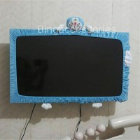 "Cover TV Doraemon ukuran S (Maksimal 21"") / bando TV / list TV / Sarung TV"