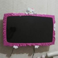 "Cover TV 1 Kepala Kitty ukuran M (24""-32"") / bando TV / list TV / Sarung TV"
