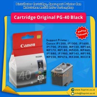 Cartridge Tinta Canon PG40 40 Black Original Printer iP1980 MX308