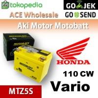 Aki Kering/ Vario 110 Cw Honda/ Motobatt Mtz5s/ Accu Gel Motor Cc
