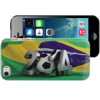 Football World Cup Pattern Smooth Plastic Case for iPhone 5/5s/SE