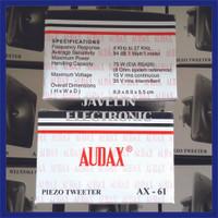 Tweeter AUDAX AX-61 / Tweeter Burung Walet AX 61 / AX61