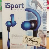 [MONSTER] iSport Immersion In-Ear Headphones with ControlTalk, Blue