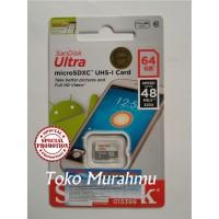 Jual Sandisk Micro Sd 64 Gb / 64Gb Class 10 Speed Up To 48 Mb/s Murah