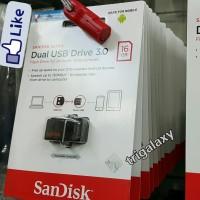 FD OTG 16GB - SANDISK DUAL DRIVE flashdisk USB 3.0 ASLI ORIGINAL RESMI
