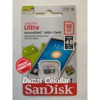harga Memory Sandisk Ultra 16gb 48mb/s Class 10 Memori Card Microsd Micro Sd Tokopedia.com