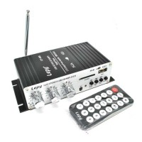 Amplifier Bass Booster Lepy Mini Car Mp3 12V Dengan USB Port FM MMC