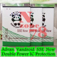 Baterai Advan Vandroid S5e New Rakkipanda Double Power Protection