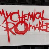 cutting sticker band my chemical romance