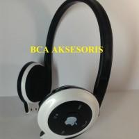 HEADPHONE / HEADSET BLUETOOTH IPHONE BH 503 BLACK WHITE