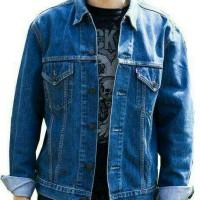 Jual jaket levi's/levi's jeans biru denim Murah