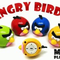Angry Birds Mp3 Player Portable Unik Murah (Fm Radio, Slot Micro Sd)