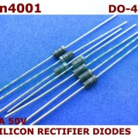 Dioda 1N4001 1A 50V Diode IN4001 Silicon Rectifier 1 A 50 V 1N 4001
