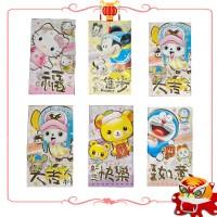Kertas Angpao Hongbao Amplop Merah Imlek Chinese New Year Karakter Pooh Doraemon Minnie Mouse Spongebob (341)