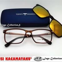 Frame Kacamata Minus Tommy Fashion Clip-On Polarized ( New & T Mant