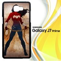 WONDER WOMAN silhouette Y0546 Casing HP Samsung Galaxy J7 Prime Cust