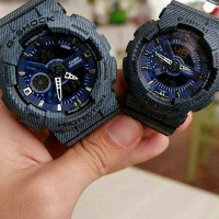 JAM TANGAN COUPLE CASIO GSHOCK GA110 DENIM BLACK