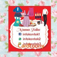Sticker/ stiker label toko fashion make up sepatu tas aksesoris