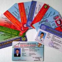 Cetak Id Card / Member Card 2 muka Bahan PVC