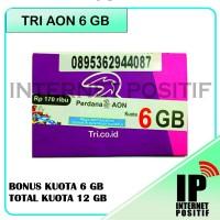 harga Kartu Perdana Internet Tri 3 Three Aon 16GB 16 GB Reguler 1 Tahun Tokopedia.com