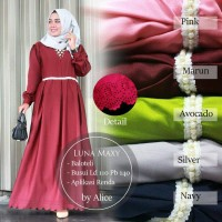 Gamis Luna Dress Ori Alice Longdress Maxi Balotelli