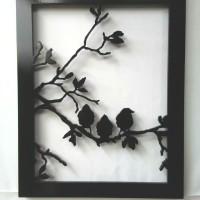 harga Lukisan Abstrak Hiasan Dinding 3D Siluet Burung 3D 001 Tokopedia.com