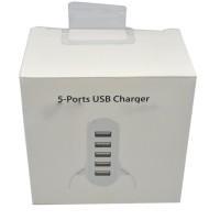 unik lucu 5 Ports USB Charger Travel Adapter 40W 8A (EU Plug) lucu