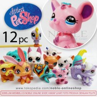 12pc Littlest PetShop Figure Cute Animals-Little Pet-Pajangan Lucu