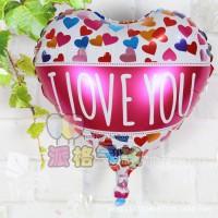 Balon Foil Hati Tulisan I Love You New Size 18 inch ( 45 cm )