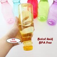 Jual Botol Minum Unik BPA Free (Anti tumpah, dilengkapi tali tentengan) Murah