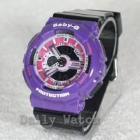 Jam tangan Casio Baby-G GA-110 / Jam tangan Gshock Wanita Black Purple