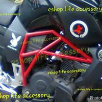 Tabular Frame Monster Modifikasi Yamaha Byson Aksesoris Variasi Berkua