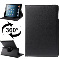 360 Degree Rotatable Leather Case Ipad 2/3 Litchi Texture Casing Cover