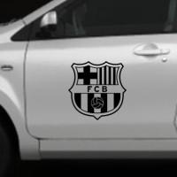 Cutting Sticker Kaca & Body Mobil Logo Barcelona FC