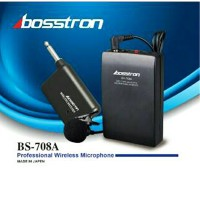 Mic clip on Jepit Wireles Bosstron BS-708A bisa untuk camera dslr
