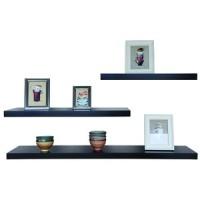 3 Rak Dinding, Minimalis, Gantung, Melayang, Kayu Uk. 50,40,30 x 10cm