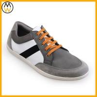 Sepatu Sneakers Pria Alhena Grey Strip