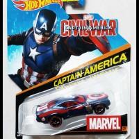 324 Hotwheels 2014 Civil War Captain America (Marvel) (Blue)