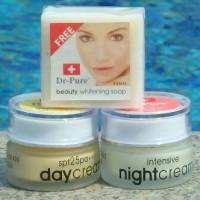Dr-pure cream pencerah wajah pagi malam+sabun