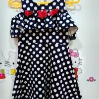 dress baju anak perempuan polkadot
