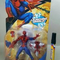 Mainan Action Figure Spiderman Hasbro Artikulasi Launching Missile