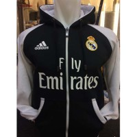 Jaket Hoodie Real Madrid R-441R Jumper Raglan Zipper Putih Madridista