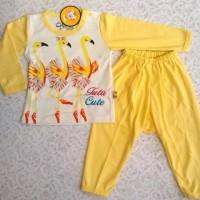 piyama bayi/ baju tidur anak/ kaos anak/ setelan baju motif swan