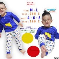 Piyama anak/piyama bayi/baju tidur anak motif ikan hiu