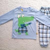 piyama bayi/ baju tidur anak/ kaos anak/ setelan baju motif crocodile