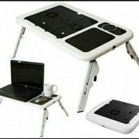 Meja Belajar Lipat Laptop Komputer Portable E Table Cooling Fan