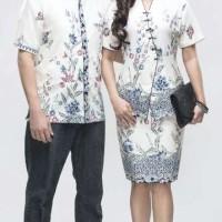 Jual batik couple setelan kancing/baju kerja/seragam pendek/jumbo Murah