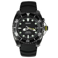 Seiko Kinetic Diver SKA427P2 Jam Tangan Pria SKA472 Black Rubeer